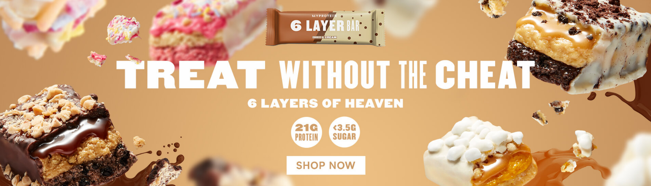 6 layer protein bar